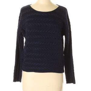 Tahari Women's Blue Wool Blend Pullover Sweater M